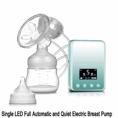 LED single breast pumps